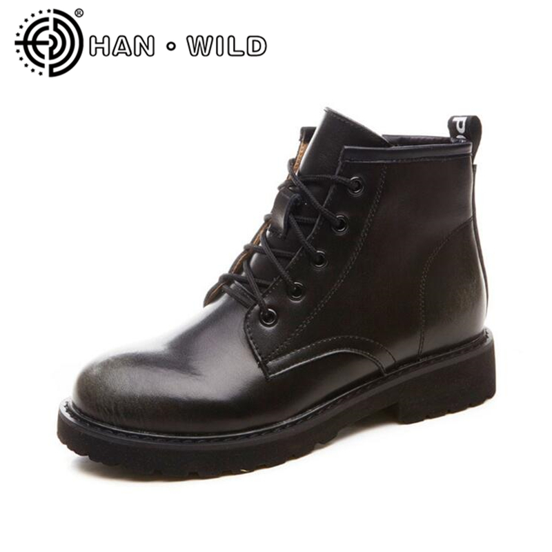 New British Leather Retro Martin Boots Women Ankle Boots Side Zipper Motorcycle Boots Genuine Leather Ladies Shoes zosuo men boots buckle desert british male boots leather martin boots tide retro tooling men s shoes zs337