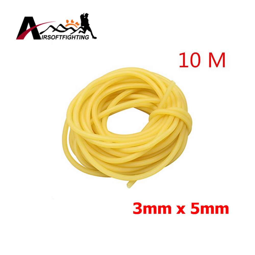 3mm x 5mm Natural Latex Slingshots Rubber Tube 10m Tubing Band For Slingshot Hunting Catapult Elastic Part Bungee Equipments