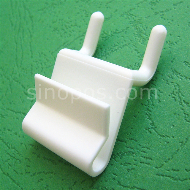plastic power wing clip for pegboard slatwall corrugated display