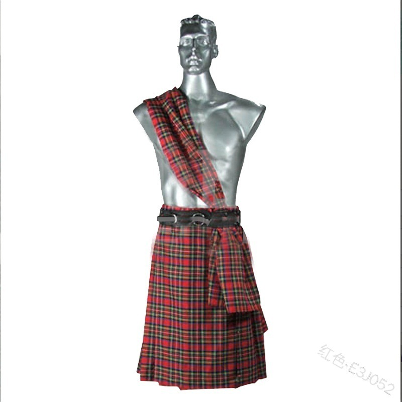 Us 1451 30 Offcarnival Mens And Womens Plaid Skirtsmens Medieval Short Skirts Cargo Personality Scottish Kilts Check Pattern Long Half Skirt On