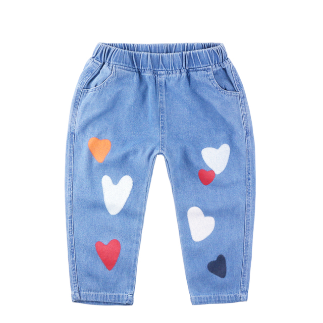 Autumn New Arrival Kids Jeans For Boys And Girls Print Children Pants Casual Baby Jeans High Quality Kids Harem Pants Jeans