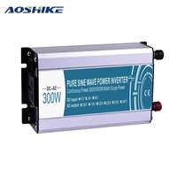 AOSHIKE DC12V к переменному току 220 V 110 V инверсор чистая Синусоидальная волна инвертирующий автомобильный силовой инвертор зарядных порта USB для ...