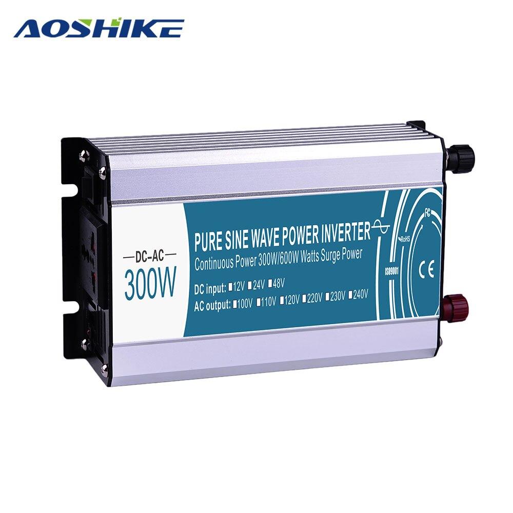 Aoshike Чистая синусоида автомобильный инвертор DC12V к AC220V 110 В инверсор Мощность инвертор USB Автомобильное Зарядное устройство Auto Мощность Напр...