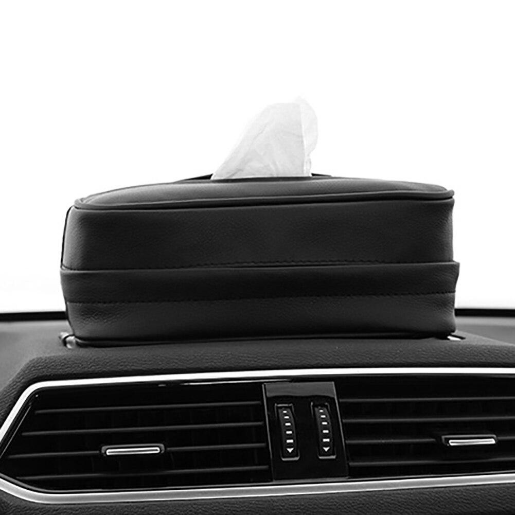 Leather Car Tissue Box Cover Napkin Paper Holder Towel Dispenser Decoration Gift