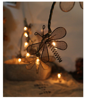20Led Fairy Retro Art Dragonfly Battery Operated String Lights 3m LED Decoration For Christmas Garland On
