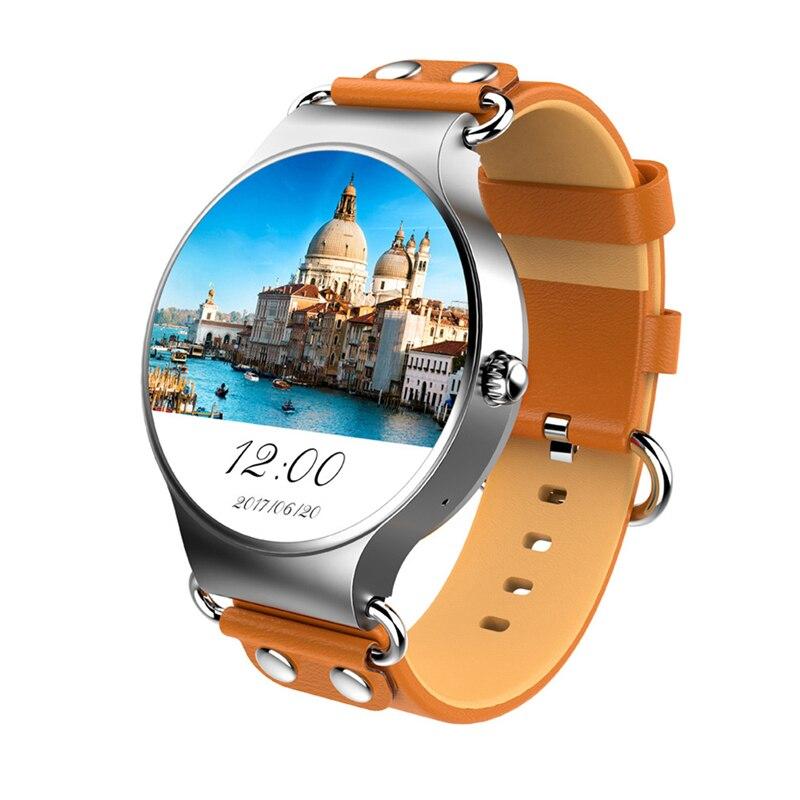 Écran rond hommes montre intelligente Android 3G 1.3 pouces 512 M + 8G WiFi GPS montres pour Apple Samsung Vivo montres intelligentes pour hommes PK KW88