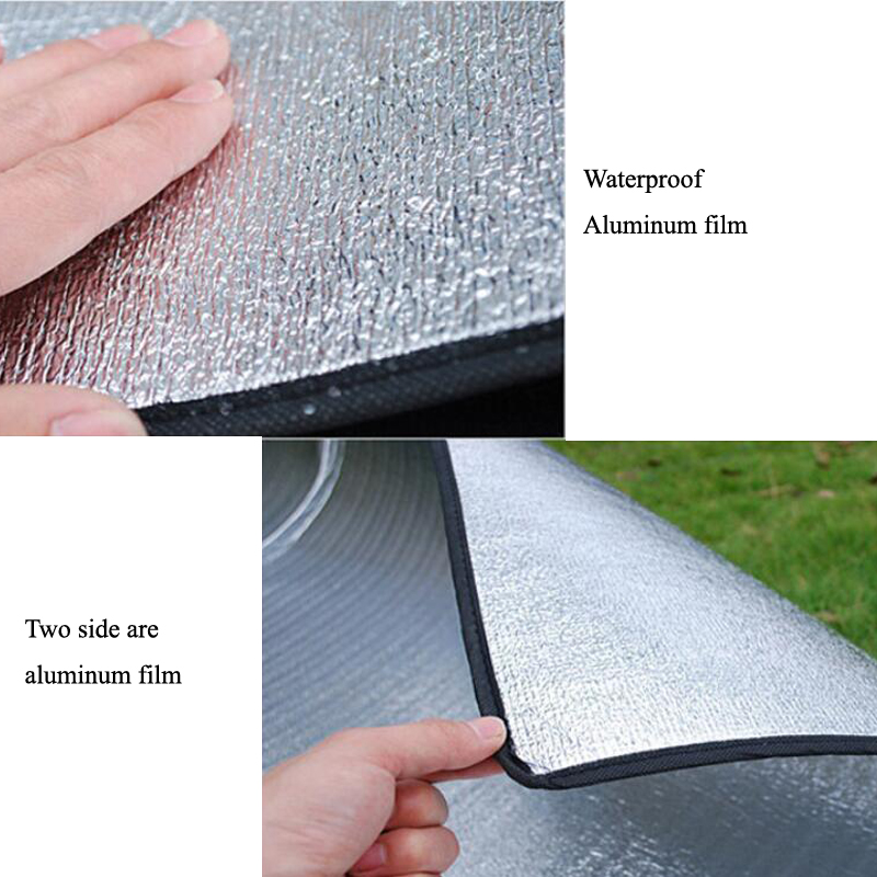 200*200cm Double-sided Aluminum Film Moistureproof Mat Tavel Mat For Tourist Camping Tent Beach Blanket Mat Camping Equipment  2