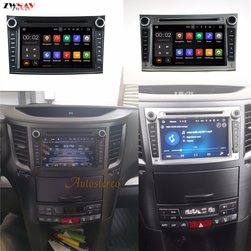 Android 8.0 8 Core RAM 4GB ROM 32GB Car GPS Auto Radio Screen DVD Player For Subaru Legacy Outback 2009-2014 dvd automotivo 8 android 4 2 capacitive screen car dvd player w 1024x600 ips gps rds wifi radio aux bt for vw seat