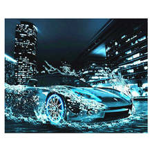 Diy Canvas Painting For Wall Decoration,Painting By Number 40x50cm,Sport Car,Paint Kits Adults