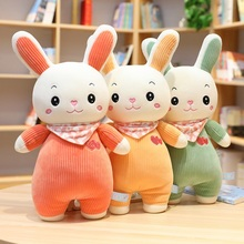 Sweet Rabbit Plush Toy Soft Cartoon Animal Bunny Stuffed Doll Children Kid Christmas Gift Baby Appease Sleeping Pillow Present