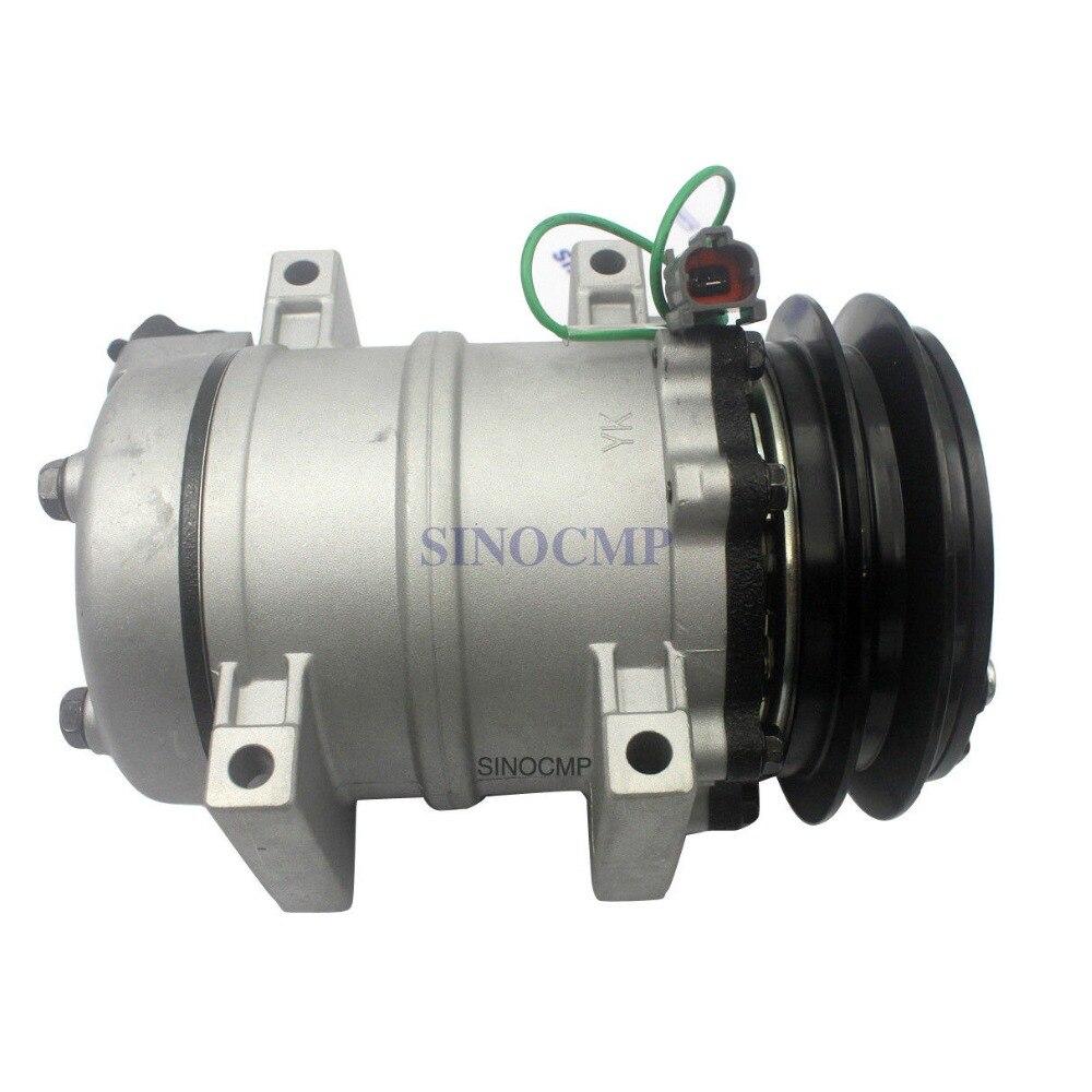 24V EX200-5 Air Conditioner Compressor Fit Hitachi Excavator