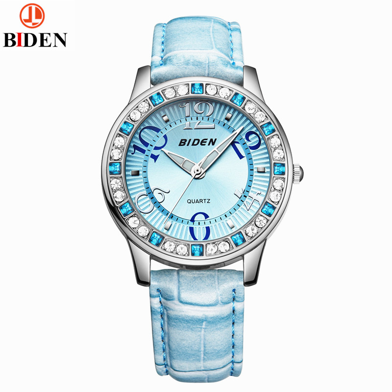 Ladies Fashion Quartz Watches Women Rhinestone Leather Casual Dress Women's Watch Crystal reloje mujer 2016 montre femme tezer ladies fashion quartz watch women leather casual dress watches rose gold crystal relojes mujer montre femme ab2004