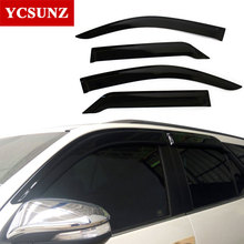 2016 2017 Car Window Visor For Toyota fortuner hilux sw4 Deflectors Guards For toyota fortuner hilux