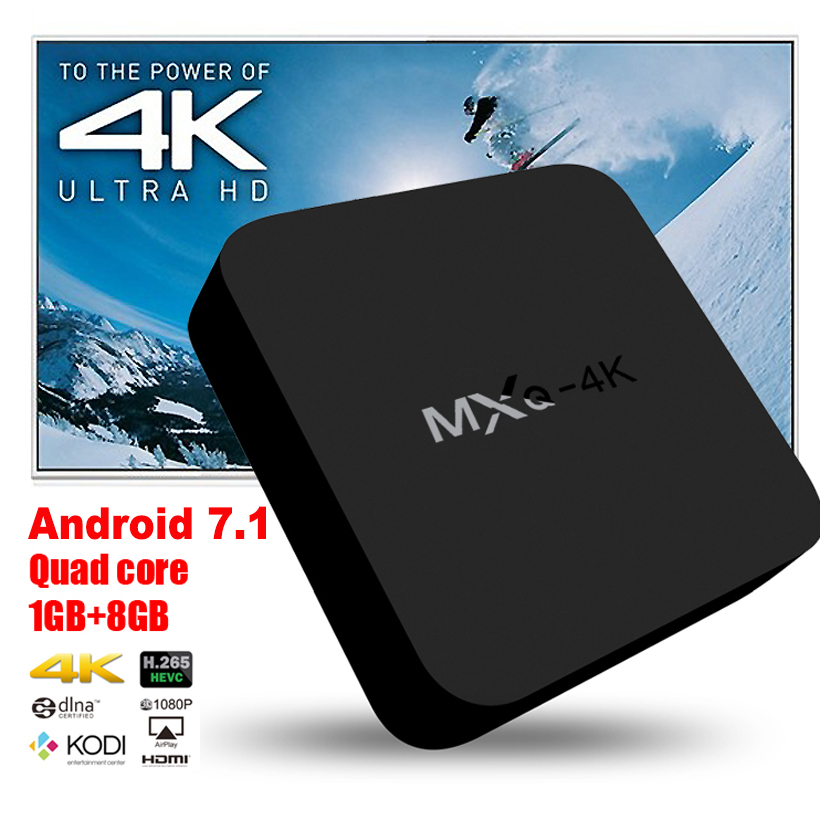 Android TV Box 4K Quad-core 1080P HD digital Android 7.1 Internet receiver smart set-top box connected usb hdmi WiFi network DVB 4 quad core smart tv box 2g 16g 1080p wifi 802 11 b g n mini pc xbmc fully loaded android 4 4 for internet surfing