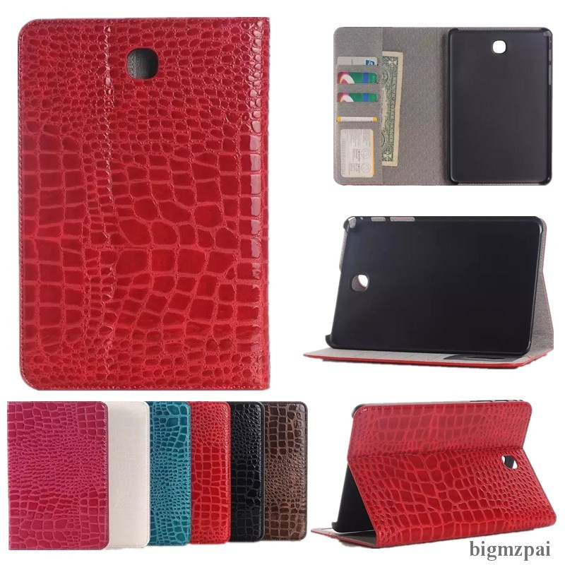 Tablet Case For Samsung Galaxy Tab S2 9.7 T810 T815 SM-T815 PU Leather Crocodile Pattern Flip Wallet Stand Protector Shell Cover