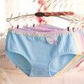 Nuevo 2016 Solid Girls arco de la ropa interior Lace Panties fresca pequeña adolescente de los cortocircuitos de la ropa del niño calzoncillos Bargas