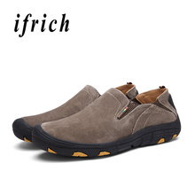 Man Hiking Shoes Dark Brown Gray Mens Camping Shoes Spring Autumn Trail Sneakers For Male Slip-On Outdoor Sneakers Men недорого