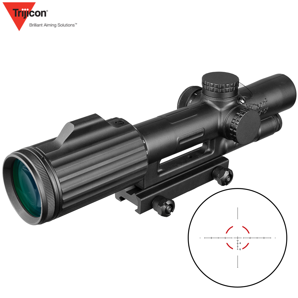 ACOG 1-6X24 Cross Concentric Rifle Hunting Riflescope Tactical Optical Sight Illuminated R&G Rifle Sniper Scope