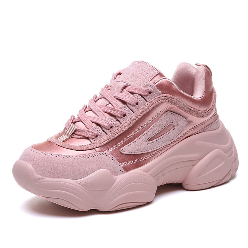 4e06f5233434 Detail Feedback Questions about Women Chunky Sneakers 2019 Platform Spring Shoes  Woman Casual Footwear Female Pink Sneaker dames Dad Shoes trainers basket  ...