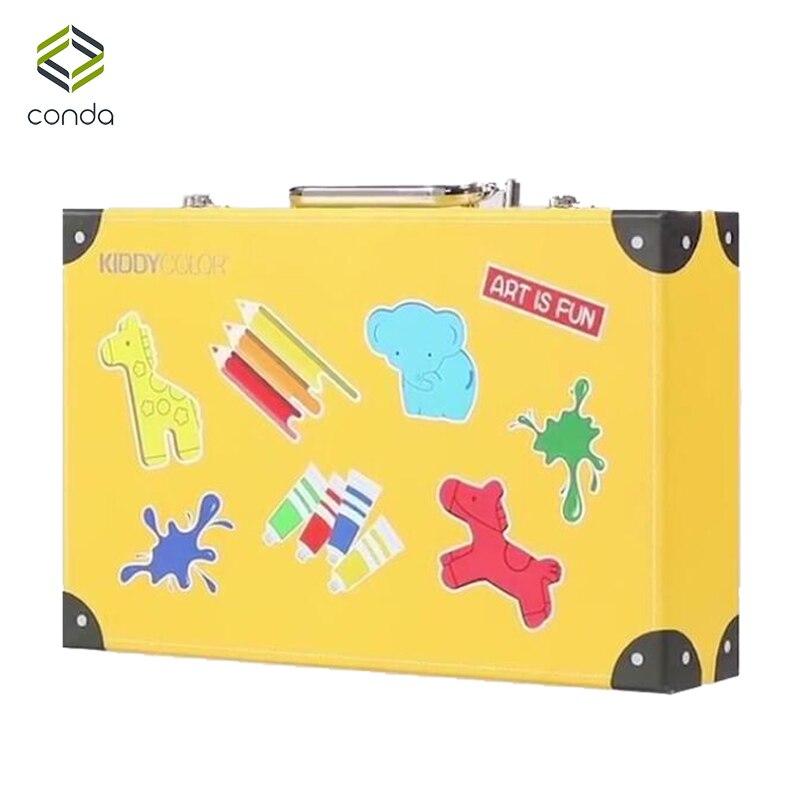 Conda 159 pièces/ensemble ensemble d'art de luxe pour enfants Crayon aquarelle peinture à l'huile ensemble fournitures d'art