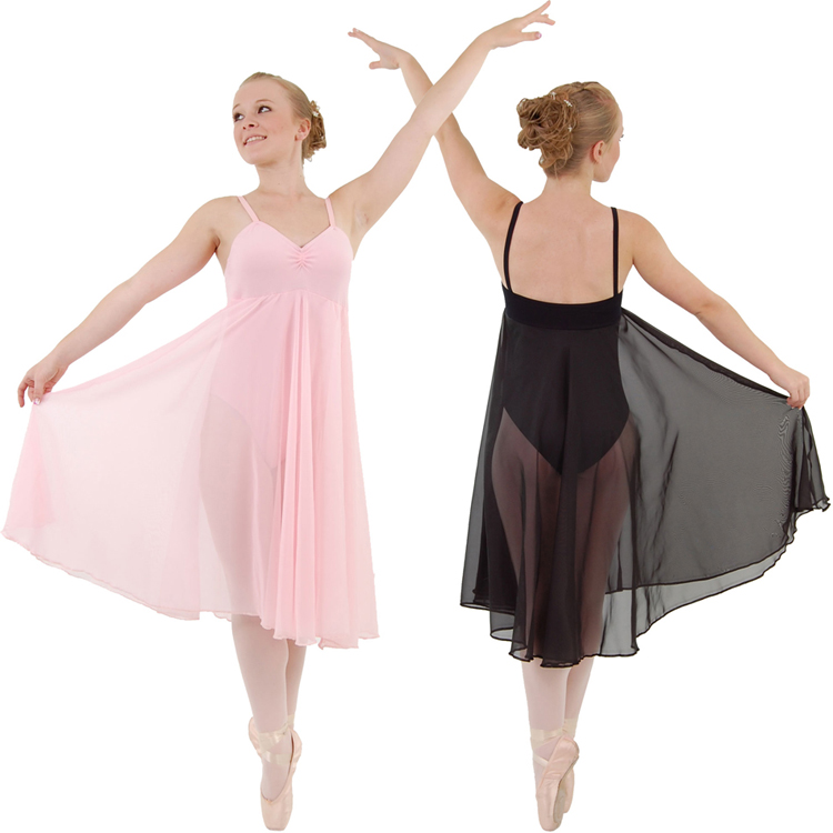 Adult Straped Large Backless Ballet Dance Costume Chiffon Long Skirt Leotard Performance Clothing For Girls Dancewear