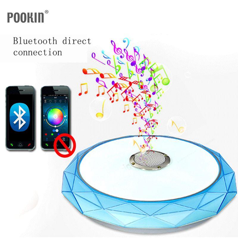 LED plafonnier moderne RGB salon 24 W Bluetooth haut-parleur musique fête lampe acrylique chambre luminaire