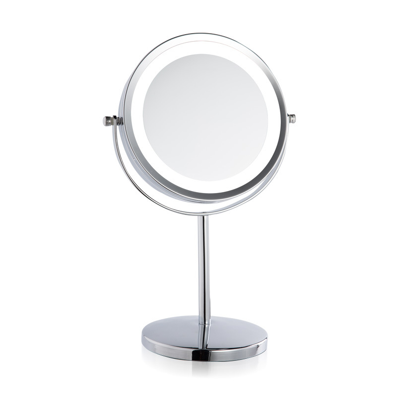 European Cosmetic mirror metal large 7 inch LED lamp desktop mirror - Huidverzorgingstools - Foto 4