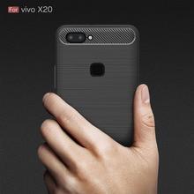 Vivo X20 Case Silicon Cover Case for Vivo X 20 Vivo X20 Plus phone case Soft Carbon Fiber Brushed FundaS Coque Etui Accessory langsidi пурпурный vivo x20 x20 plus