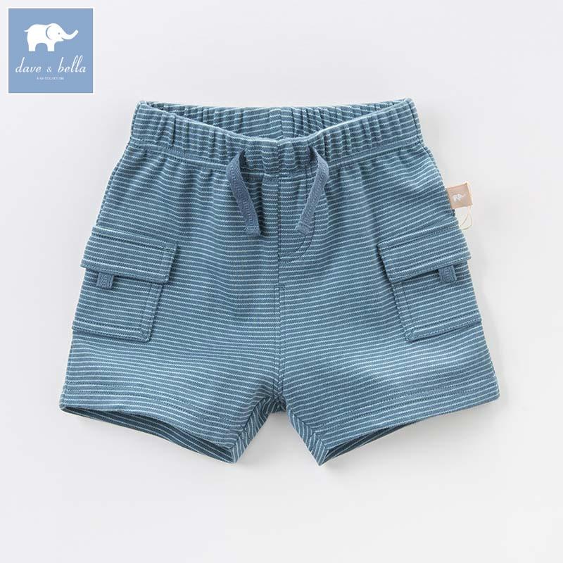 DB7734 bella דייב תינוק אופנה 100% כותנה קיץ פעוט תינוק בגדי ילדי מכנסי פסים כחולים מכנסיים מקרית בני 1 pc