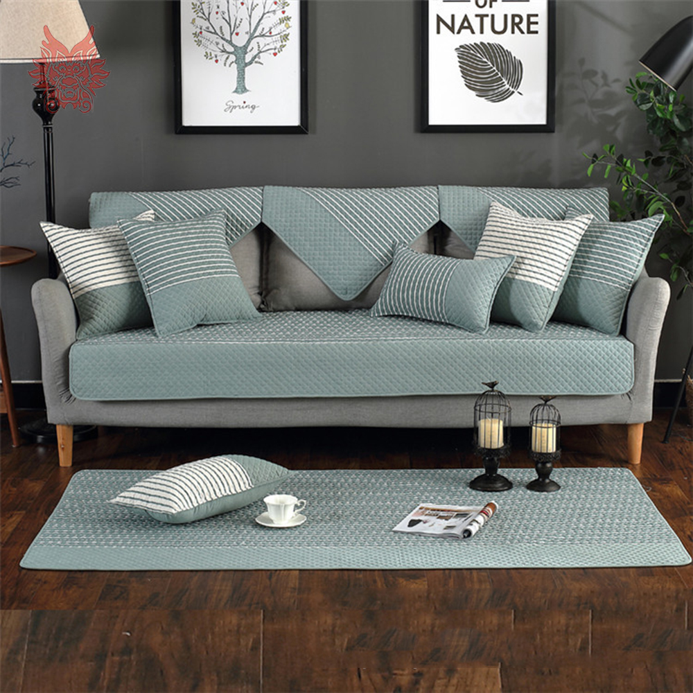 living room slipcovers wall units in bangalore modern blue green coffee striped quilted cotton sofa cover for canape couch chair furniture covers sp5077 from home