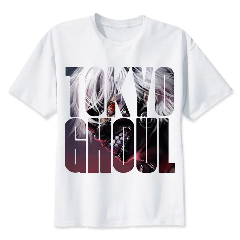 Tokyo Ghoul t shirt men cartoon 2017 cool funny white tshirt print T-shirt men Tees MR1232