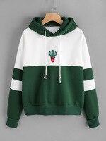 Cactus Print Hoodie Streetwear Long Sleeve Harajuku Sweatshirt For Autumn Winter Women Clothes Moleton Feminino