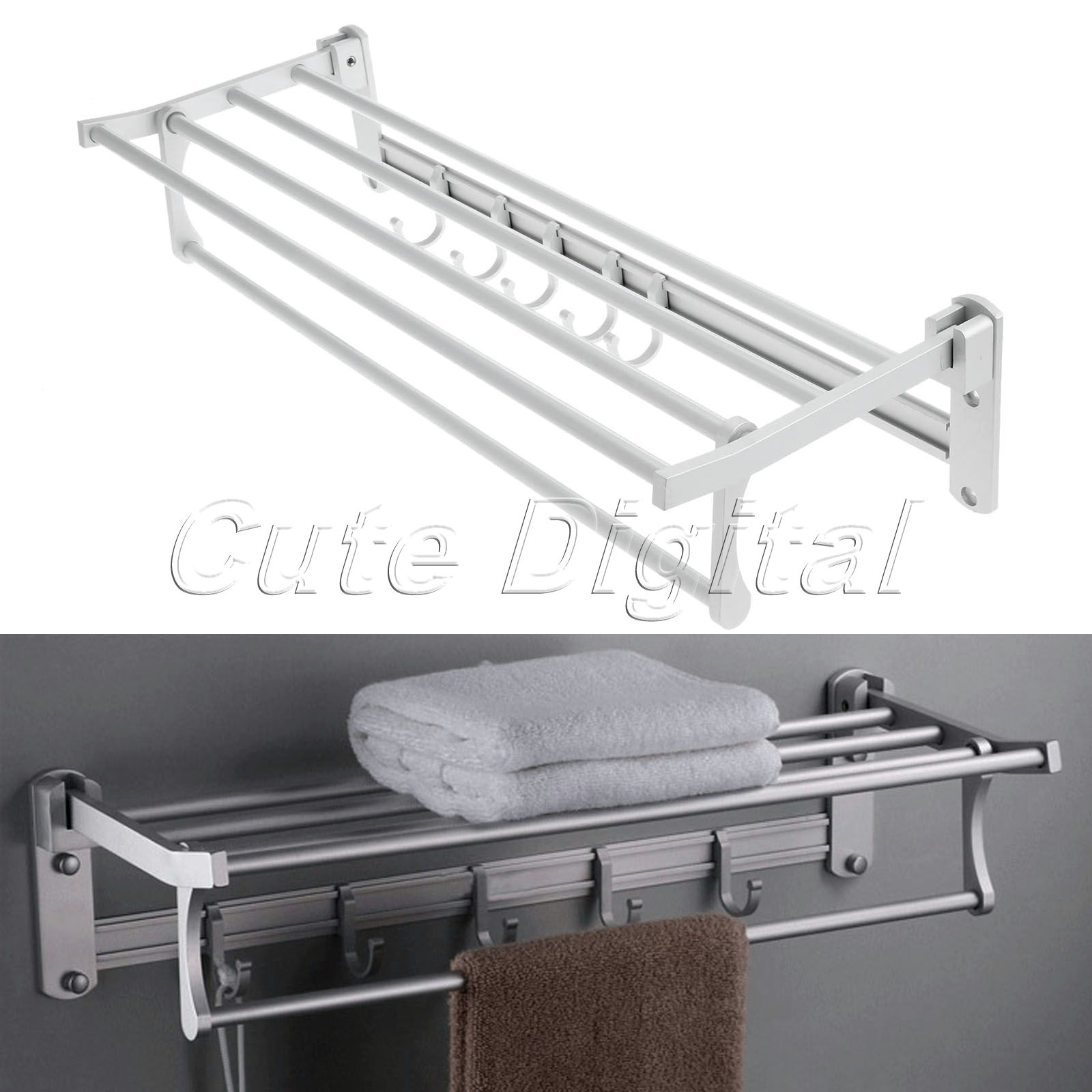 Wholesale Aluminum Wall Mounted Bathroom Towel Shelf Holders ...