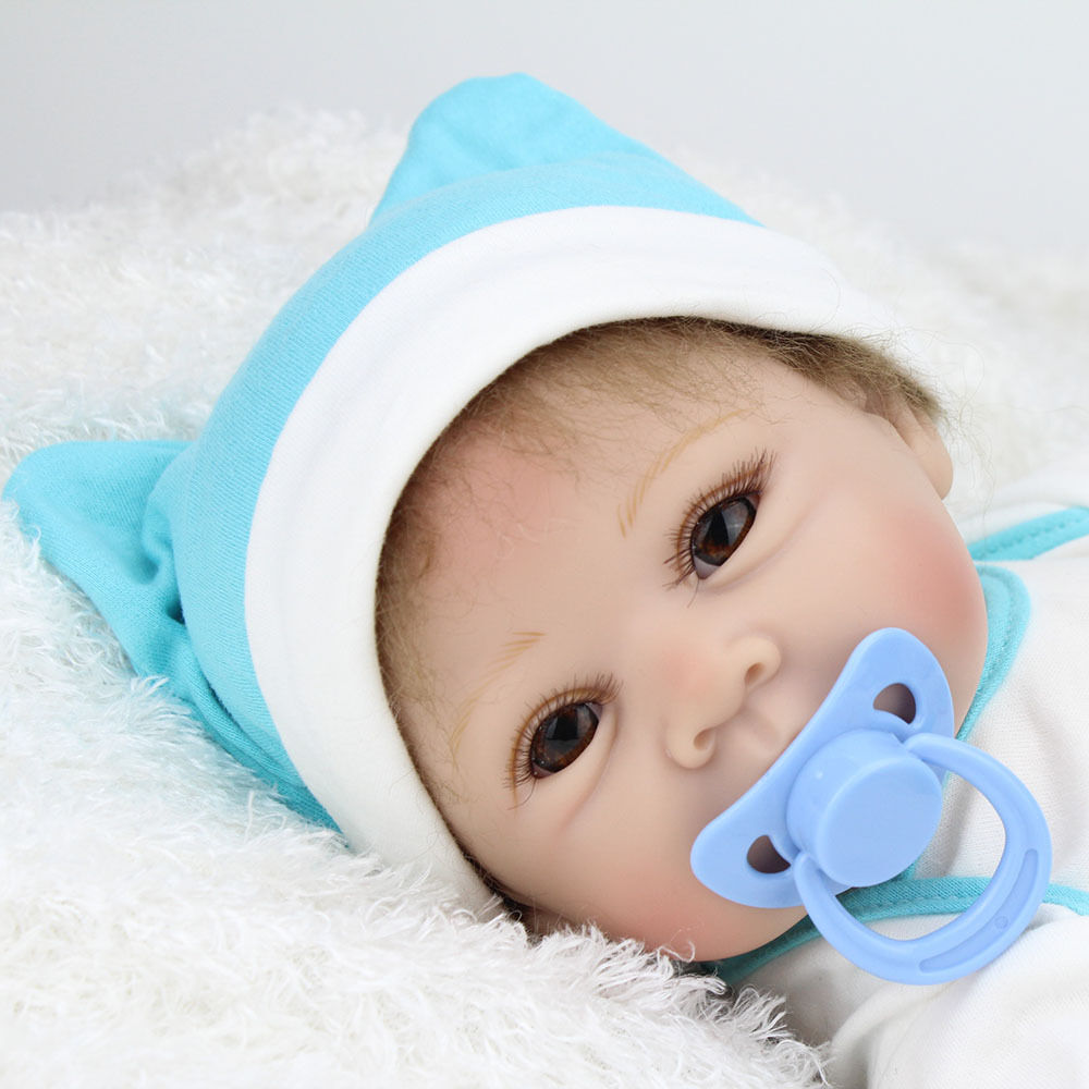 22'' Bebe Reborn Baby Boy Doll Soft Silicone Vinyl Toddler Newborn Toy Kid Gifts American Girl Doll Toddler Boy Toys