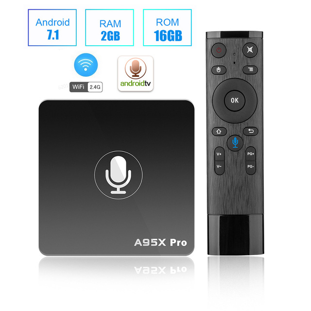 A95X PRO Điều Khiển Bằng Giọng Nói TV Box Android 7.1 Amlogic S905W 2 GB RAM 16 GB ROM 2.4G WiFi 100 mbps H.265 Hỗ Trợ Youtube 4 K + Netflix HD