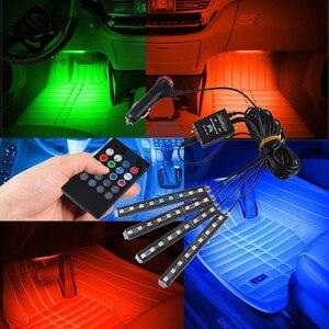 Image 2 - Couleur automatique dinterni rvb 9 Kit de bande LED contrôleur automatique de contrôle de musique sans fil 7 couleurs pour latmosphère