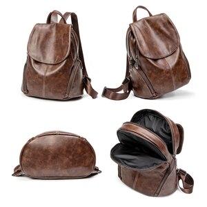 Image 4 - ZROM Women Waterproof Backpack High Quality Leather Backpacks for Teenage Girls Female School Fashion Shoulder Bag Backpacks