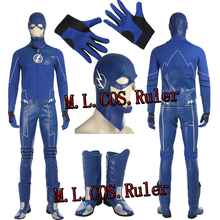 ManLuYunXiao cos the Future Blue Flash Cosplay Costume Full Suit with Boots bb3729eef2f7