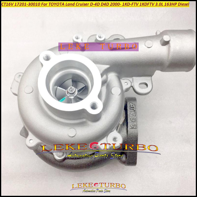 Turbo Turbocharger CT16V 17201-30010 17201 30010 1720130010 For TOYOTA Land Cruiser LandCruiser D-4D 1KD-FTV 1KD FTV 1KDFTV 3.0L