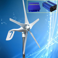Discount Price Wind Turbine Kit 400W Wind Generators + Wind Solar Hybrid Controller + 1500W Pure Sine Wave Inverter
