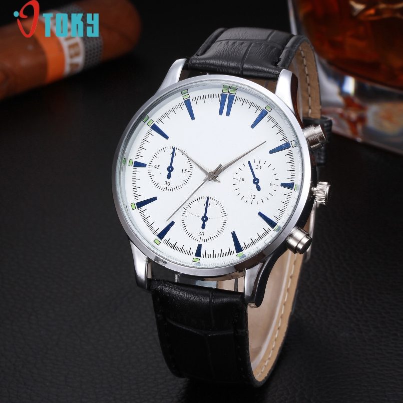 Excellent Quality OTOKY Mens Watch Fashion Casual High Soft Leather Waterproof Quartz Wrist Watches For Men Heren Horloge
