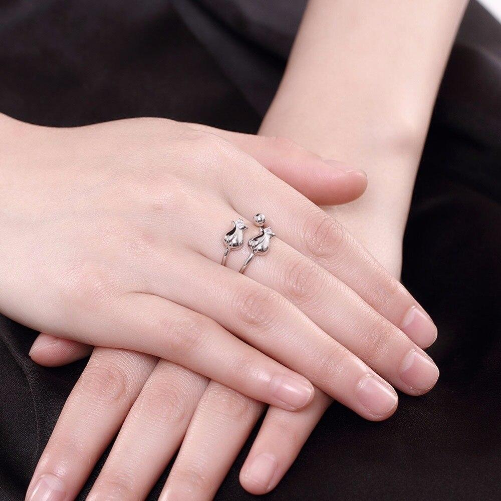 Open Style Rose Flower Design Thin Ring Romantic S925 Sterling ...