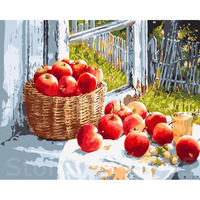 Diy Digital Painting Oil Painting By Numbers Framless Wall Painting Home Decor Hand Painted 40X50cm Apple