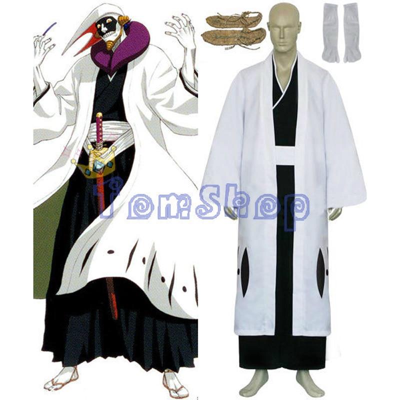 Bleach 12th Division Captain Kurotsuchi Mayuri Cosplay Kimono Uniform Suit Men s Halloween Costumes Custom made