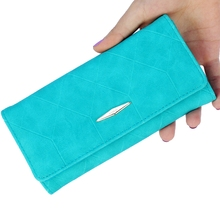 New Fashion Ling Grid Embossed Wallet Purse For Women
