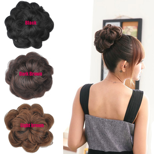 Women wavy curly synthetic hair bun cover hairpiece clip in women wavy curly synthetic hair bun cover hairpiece clip in scrunchie hair extensions on aliexpress alibaba group pmusecretfo Gallery