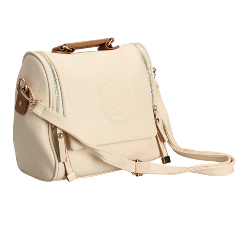 New Fashion Women's Tote Satchel Handbag Messenger Bag Shoulder Bag Vintage Bags Beige