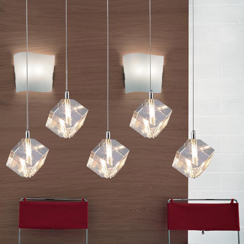 Popular hanging crystal light buy cheap hanging crystal light lots from china hanging crystal - Modern dining room pendant lighting ...