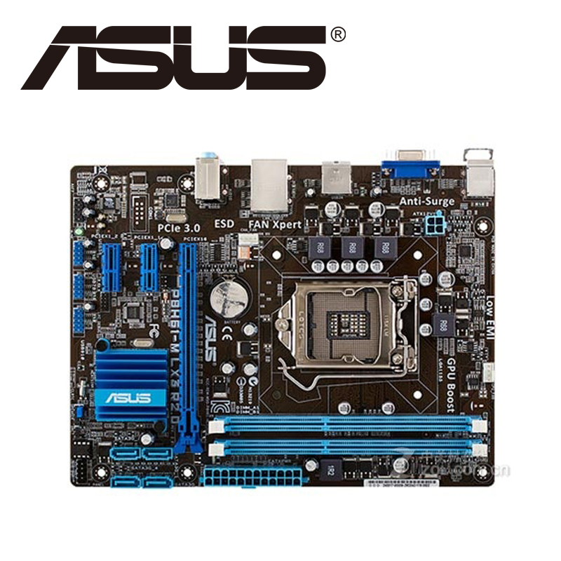 Asus P8H61-M LX3 R2.0 Desktop Motherboard H61 Socket LGA 1155 i3 i5 i7 DDR3 16G uATX UEFI BIOS Original Used Mainboard On Sale asus p8b75 m lx desktop motherboard b75 socket lga 1155 i3 i5 i7 ddr3 16g uatx uefi bios original used mainboard on sale