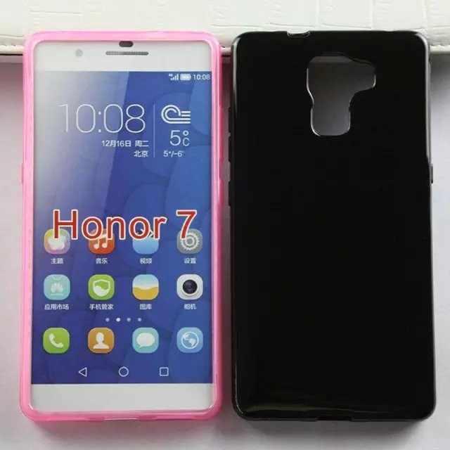 Мягкий ТПУ Желе задняя чехол для Huawei Honor 7 чехол для телефона 200 шт/партия DHL Бесплатная доставка